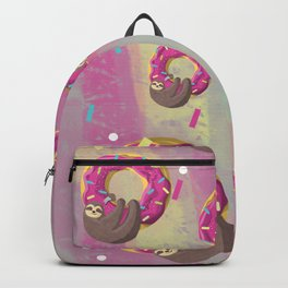 Cute sloth hanging from the donut Backpack