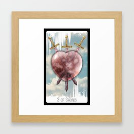3 of Swords Framed Art Print