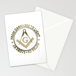 Freemasonry emblem Stationery Cards