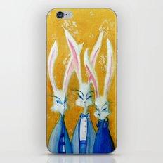 rabbit family iPhone & iPod Skin