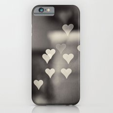Hearts Abstract Photography, Black and White Love Heart Art Print iPhone 6s Slim Case