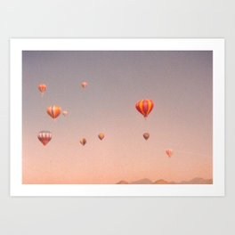 vintage hot air balloons in rio Art Print