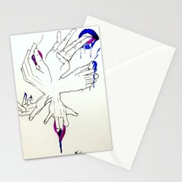 Erotic massage Stationery Cards