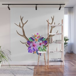 Floral Horn Wall Mural