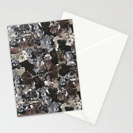 Schnauzer Collage Realistic Stationery Cards