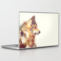 wolf Laptop & iPad Skins featuring Wolf // True by Amy Hamilton