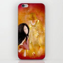 Amis pour la vie  !   Zoey  and Monsieur Bone ( artwork realize by Lou jah and Joe Ganech ) iPhone Skin