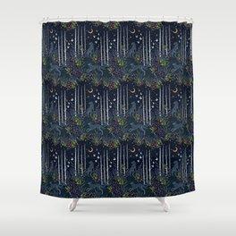 Midnight Exploration Shower Curtain