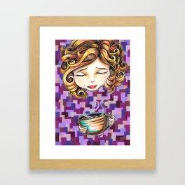 Curls and Coffee Swirls Framed Art Print