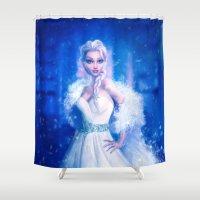 frozen elsa Shower Curtains featuring Elsa by Joe Roberts