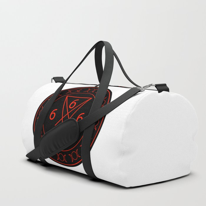 666- the number of the beast with the sigil of Lucifer symbol Duffle Bag