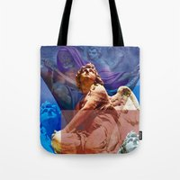 religious Tote Bags featuring Religious Hymns of Angels by CAPTAINSILVA