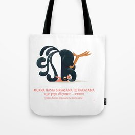 Mukha Hasta Sirsasana to Bakasana Chicken Yoga Tote Bag