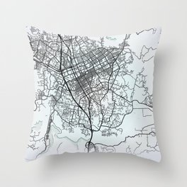 Escondido CA USA White City Map Throw Pillow