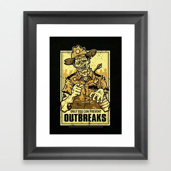 Outbreak Prevention Framed Art Print