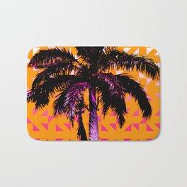 Palm Tree (Orange Pink) Bath Mat