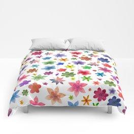 Watercolor Flowers Pattern Comforters