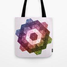 Patchwork Tiles IV (Rainbow flowers) Tote Bag