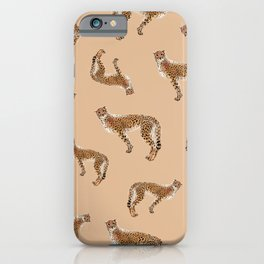 Cheetah Fur _Neutral & Tan _ Watercolor painting iPhone Case