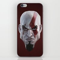 video games iPhone & iPod Skins featuring Triangles Video Games Heroes - Kratos by s2lart