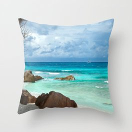 TURQUOISE TRANQUILITY Throw Pillow