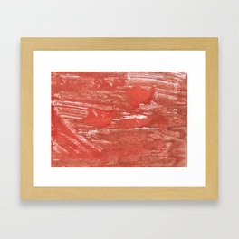 Indian red colorful wash drawing Framed Art Print