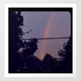 rainbow in my neighborhood Art Print