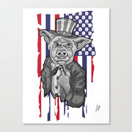Pig Socket Canvas Print