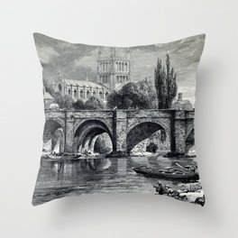 Cathedrals, abbeys and churches of England and Wales Throw Pillow