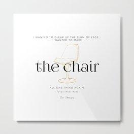 Eero Saarinen Tulip chair Metal Print