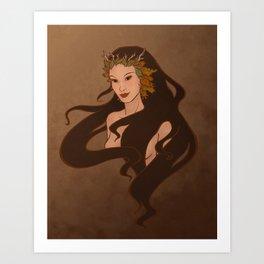 Autumn Faerie Art Print