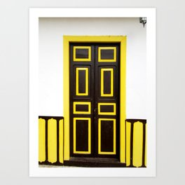 Doors - Brown and Yellow Art Print