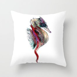 Magic Seahorse Throw Pillow