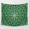 Single Snowflake - green by peppermintcreek