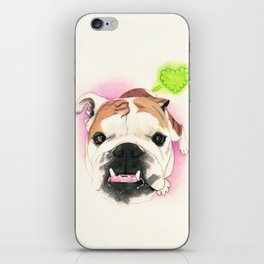English Bulldog - F.I.P. - @LucyFarted iPhone Skin