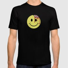 Don't worry. Be eaten. MEDIUM Mens Fitted Tee Black