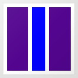 TEAM COLORS 10 ....BLUE/PURPLE Art Print