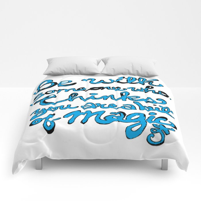 Be With Someone Who Loves Baby Blue Comforters