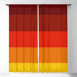 Multicolor Retro Strips Blackout Curtain