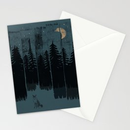 A Fox in the Wild Night... Stationery Cards