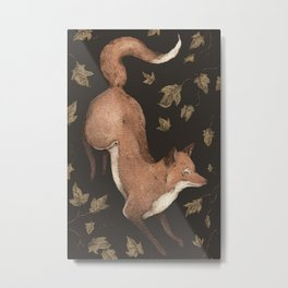 The Fox and Ivy Metal Print