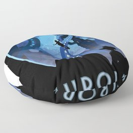 Visions of the Future: Europa Floor Pillow