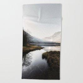 Mountain river 2 Beach Towel