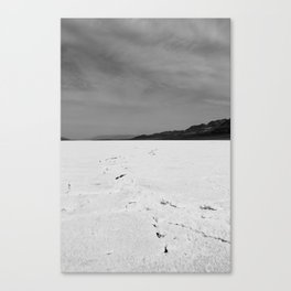 Badwater Black and White Canvas Print