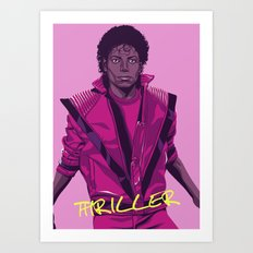 THRILLER - Leather jacket Version Art Print