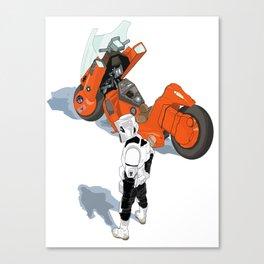 Biker Scout With Taste Canvas Print