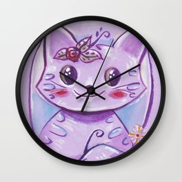 Teatime cat Wall Clock