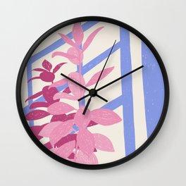 Purple Shadows Wall Clock