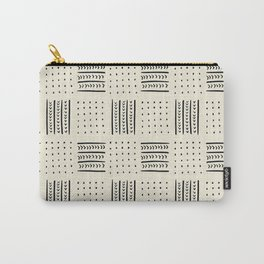 Mud Cloth in Cream Carry-All Pouch