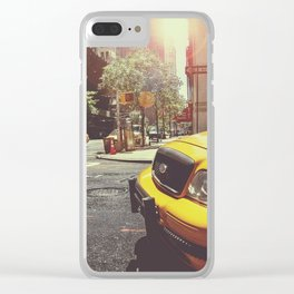 New York City Cabs Clear iPhone Case